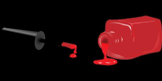 červený gel