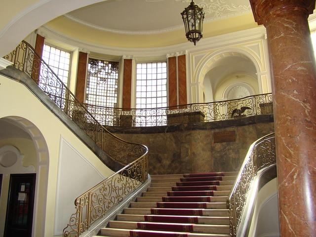 schodiště na zámku